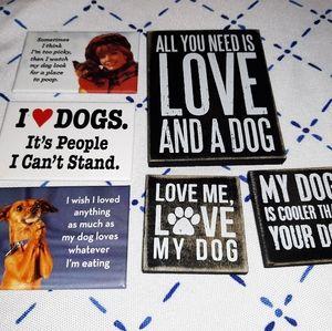 Lot of Dog Loving Magnets / Funny / Amusing